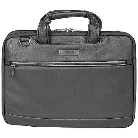 "Kenneth Cole Reaction Slim Laptop Case For 16"" Laptops, 11.5"" x 15.75"" x 1.5"", Black"