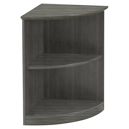Stupendous Mayline Medina Open 1 4 Round Bookcase 1 Shelf 20 X 20 X 29 5Bookshelf 2 Shelve S Finish Gray Steel Laminate Item 395825 Home Interior And Landscaping Elinuenasavecom
