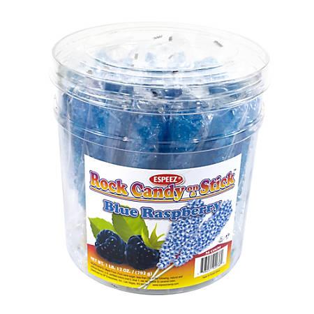 Espeez Rock Candy Sticks, Royal Blue Raspberry, Pack Of 36