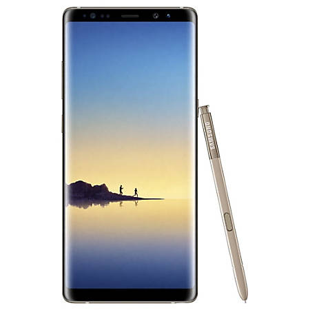 Samsung Galaxy Note 8 Cell Phone, Maple Gold, PSN101026