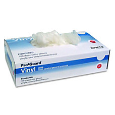 Impact Products Powdered Vinyl Gloves Disposable