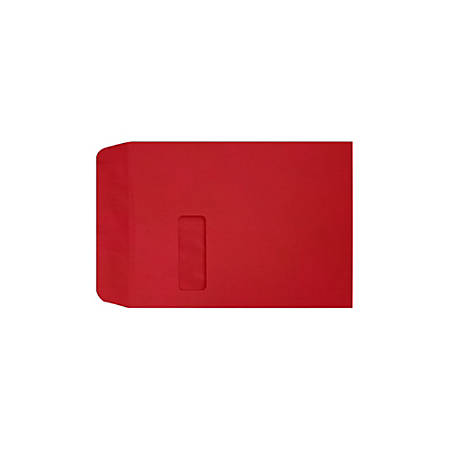 """LUX Open-End Window Envelopes With Peel & Press Closure, #9 1/2, 9"""" x 12"""", Ruby Red, Pack Of 50"""