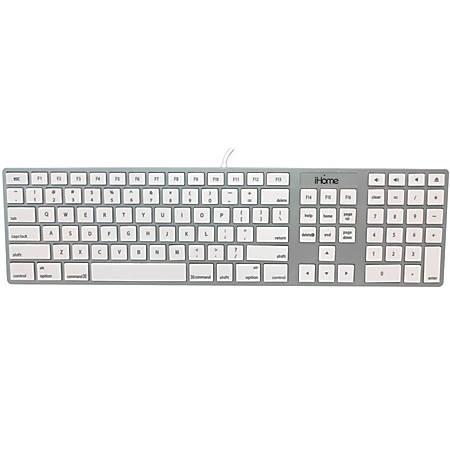 iHome Full-Size USB Keyboard, Silver