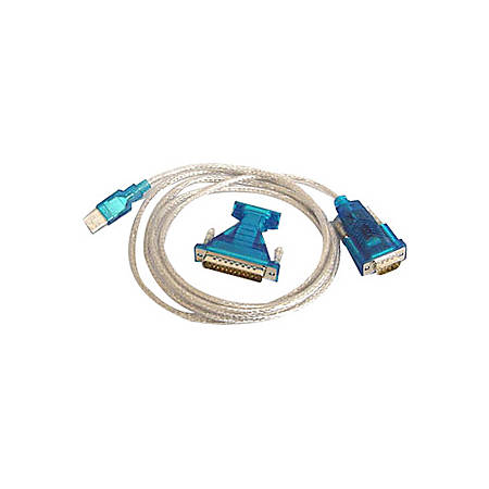 Bytecc BT-DB925 USB to Serial Cable Adapter - 5.83 ft Serial Data Transfer Cable - Type A Male USB - DB-9 Male Serial