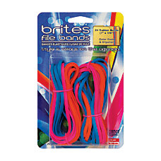 Alliance Rubber Brites File Bands Assorted