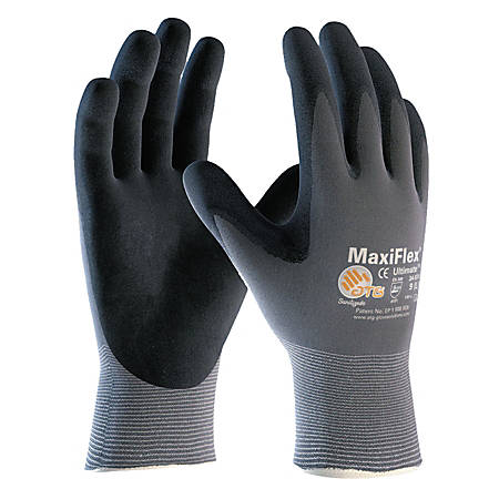 Bouton® MaxiFlex® Ultimate™ Nitrile Gloves, Large, Black/Gray, Pack Of 12 Pairs
