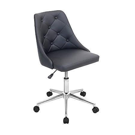 Lumisource Marche Chair, Black/Chrome