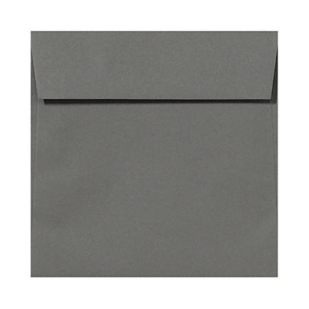 """LUX Square Envelopes With Peel & Press Closure, 6 1/2"""" x 6 1/2"""", Smoke Gray, Pack Of 500"""