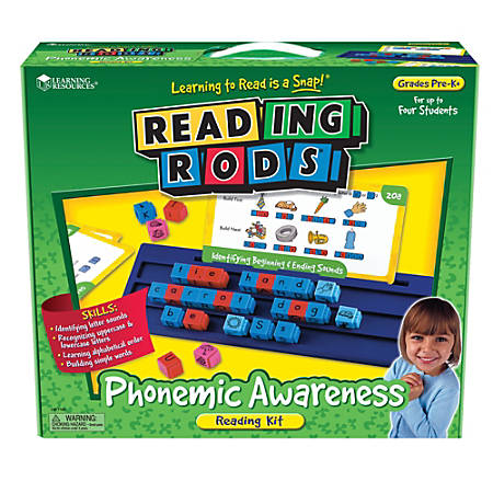 Learning Resources® Reading Rods Phonemic Awareness Kit, Pre-K - Grade 1