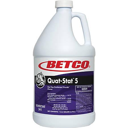 Betco Quat-Stat 5 Disinfectant Gallon - Concentrate Liquid - 1 gal (128 fl oz) - Lavender Scent - 1 Each - Purple