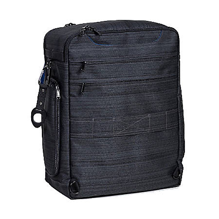 "Walter + Ray USB Transit Backpack With 17"" Laptop Pocket, Suit Black"