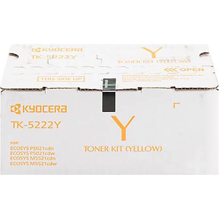 Kyocera TK-5222Y Toner Cartridge - Yellow - Laser - Standard Yield - 1200 Pages - 1 Each