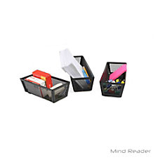 Mind Reader Mesh Storage Organizers Black