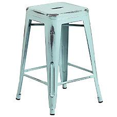 Flash Furniture Commercial Grade Distressed Metal