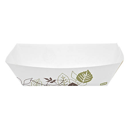 """Dixie® Kant Leek® Paper Food Trays, Pathways, 2 1/8"""" x 6 1/8"""" x 9 3/8"""", Multicolor, 250 Trays Per Pack, Carton Of 2 Packs"""