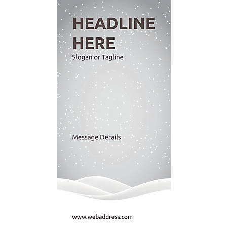 Custom Vertical Banner, Snow Mountains