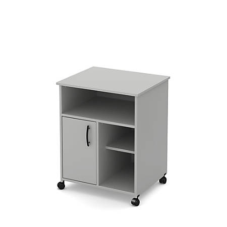 South Shore Axess Printer Cart On Wheels, Soft Gray