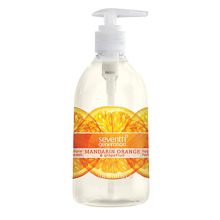 Seventh Generation™ Mandarin Orange/Grapefruit Hand Wash, 12 Oz, Orange