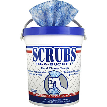 SCRUBS® Hand Cleaner Sanitizer Towels, 72 Towels Per Box, Carton Of 6 Boxes