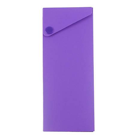 """JAM Paper® Plastic Slide Pencil Case, 7 3/4""""H x 2 3/4""""W x 1 1/8""""D, Red"""