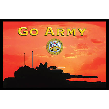 "California Color Products Army Door Mat, 24"" x 36"", Tank At Sundown, Pack Of 3"