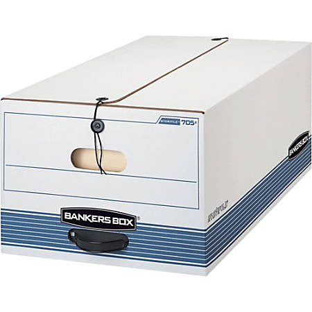 """Bankers Box® Stor/File™ With String And Button, 15"""" x 24"""" x 10"""", Legal, Pack Of 4"""