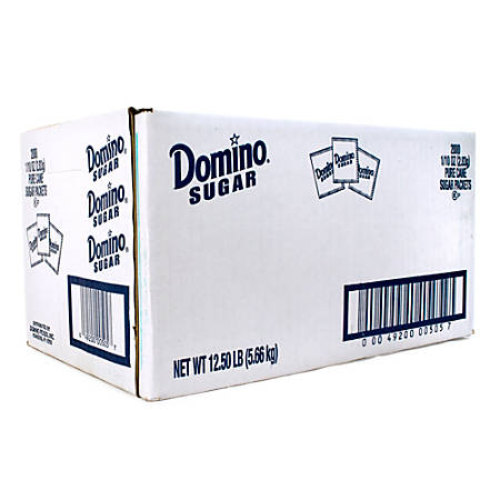 Domino Sugar Packets, Box Of 2,000