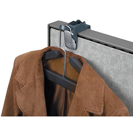 Fellowes® Partitions Additions™ Coat Hook & Clip, Slate Gray