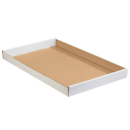 "Office Depot® Brand Corrugated Trays, 1 3/4""H x 15""W x 24""D, White, Pack Of 50"