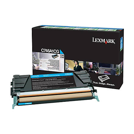 Lexmark™ C746A1CG Return Program Cyan Toner Cartridge