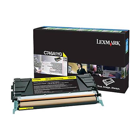 Lexmark™ C746A1YG Return Program Yellow Toner Cartridge