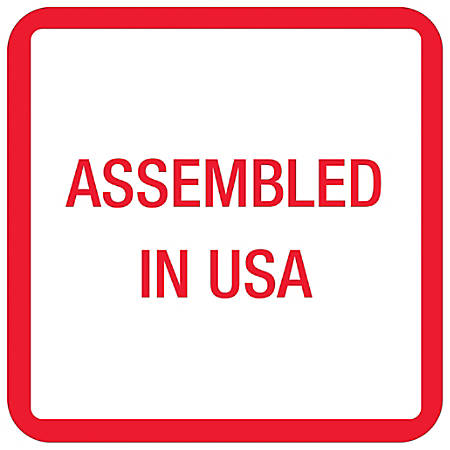 """Tape Logic® Preprinted Labels, USA303, Assembled in U.S.A., Square, 1"""" x 1"""", Red/White/Blue, Roll Of 500"""