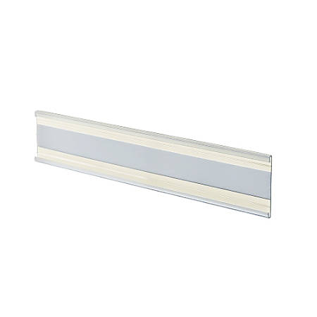 "Azar Displays Adhesive-Back Acrylic Nameplates, 2"" x 8 1/2"", Clear, Pack Of 10"