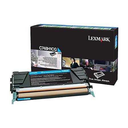 Lexmark™ X748H1CG High-Yield Cyan Toner Cartridge