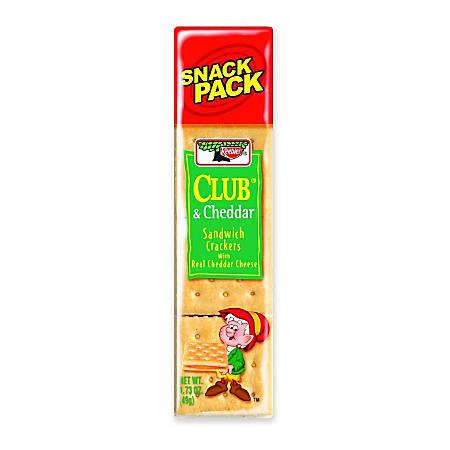 Keebler® Sandwich Crackers, Club® & Cheddar, 1.8 Oz, Box Of 12