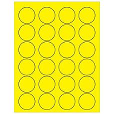 Office Depot Brand Labels LL193YE Circle