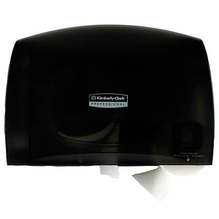 "Kimberly-Clark Professional Scott Coreless JRT Tissue Dispenser - Roll Dispenser - 6 x Roll - 9.8"" Height x 14.3"" Width x 6"" Depth - Plastic - Smoke Gray - Durable"