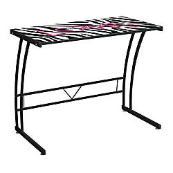 Lumisource Top Sigma Computer Desk Zebra