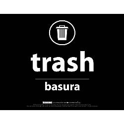 "Recycle Across America Trash Standardized Recycling Labels, TRASH-8511, 8 1/2"" x 11"", Black Item # 397807 