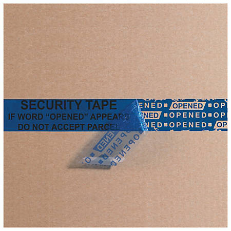 "Tape Logic® Secure Tape, 3"" Core, 2"" x 60 Yd., Blue, Case Of 36"