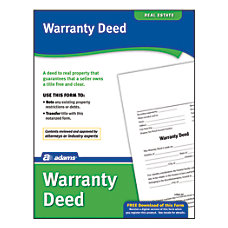 Adams Warranty Deed