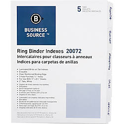 Business Source 3 Ring 5 Tab