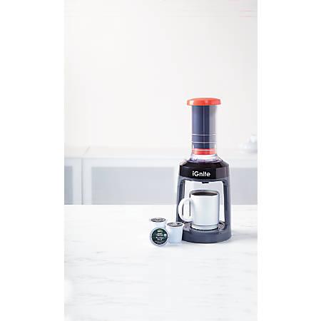 iGnite Single-Serve K-Cup® Pods French Press Coffeemaker, Black