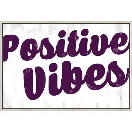 "PTM Images Framed Canvas Wall Art, Positive Vibe, 25 3/4""H x 37 3/4""W"