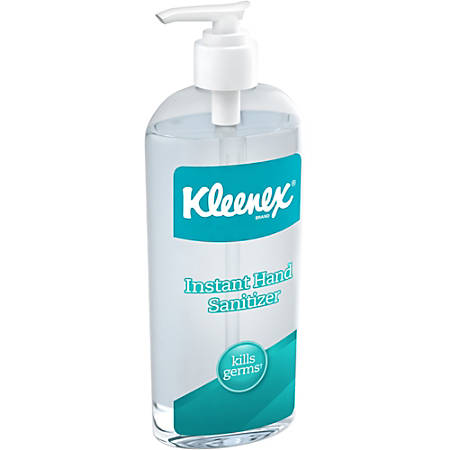 Kleenex Instant Hand Sanitizer - Citrus Scent - 8 oz - Kill Germs - Hand - Clear - Antimicrobial - 12 / Carton