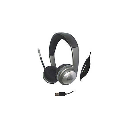 SYBA Multimedia Connectland Headset - Stereo - USB, Mini-phone - Wired - 32 Ohm - 20 Hz - 20 kHz - Over-the-head - Binaural - Ear-cup