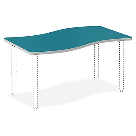 "HON® Build Ribbon Table Top, 1 1/8""H x 54""W x 30""D, Blue Agave"