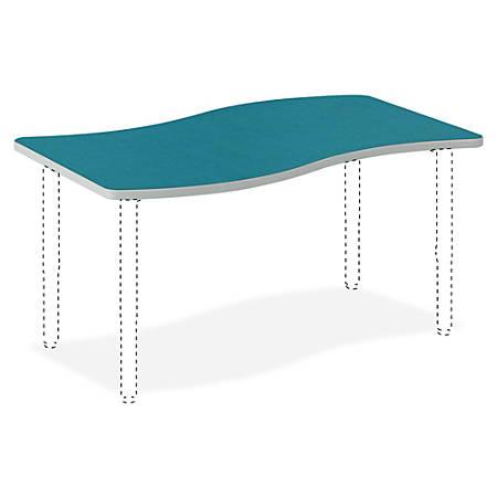 "HON® Build Ribbon Table Top, 1 1/8""H x 54""W x 30""D, Blue Agave"