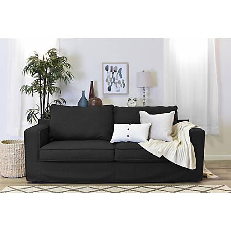 "Serta® Colton 85"" Sofa With Slipcover, Dark Charcoal"