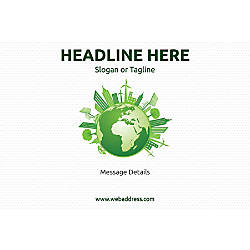 Adhesive Sign Green World Horizontal